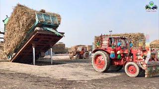 Belarus 510 | Hydraulic Unloading System Sugarcane loaded Trailer | Punjab Tractors