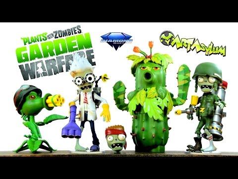 Plants vs. Zombies: Garden Warfare Peashooter vs Scientist & Foot Soldier vs Camo Cactus 2-Pack
