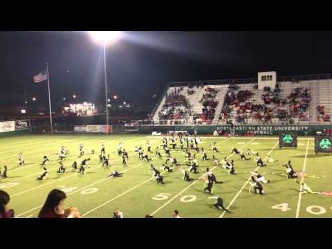 Tahlequah High School Orange Express half-time performance