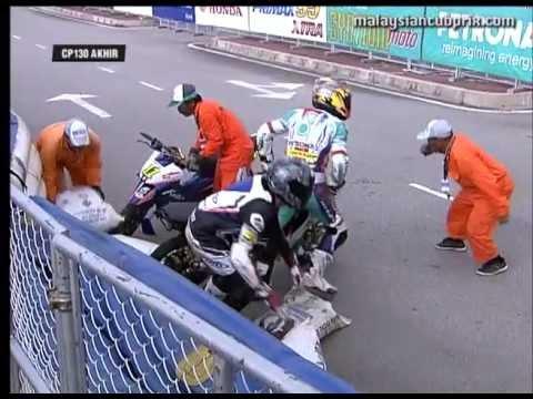 Round 3 Terengganu - Best of Crashes - 2013 PETRONAS Malaysian Cub Prix Championship