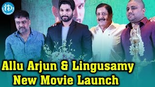 Allu Arjun and Lingusamy New Movie Opening || Latest 2016 Tamil Movies