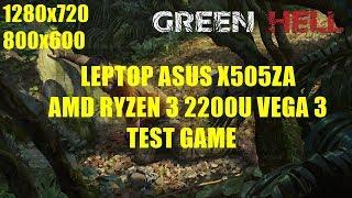 AMD Ryzen 3 2200U Vega 3 - Green Hell - ASUS X505ZA