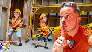 Sneaking Into TOP SECRET Spooky Construction Site!