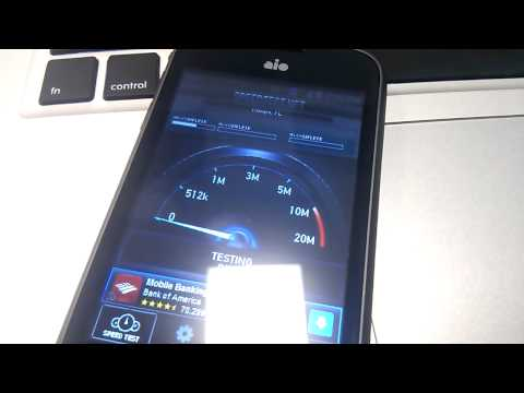 AIO WIRELESS 3G Speed Test On ZTE Prelude