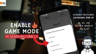 Enable Game Mode in Samsung One UI | S8, S9, S10, Note 8, Note 9, A8, A7 | Hidden Samsung Game Tuner