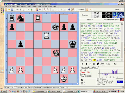 Bastiaan versus Alex 1.78: Orthoschnapp gambit (live and annotated)