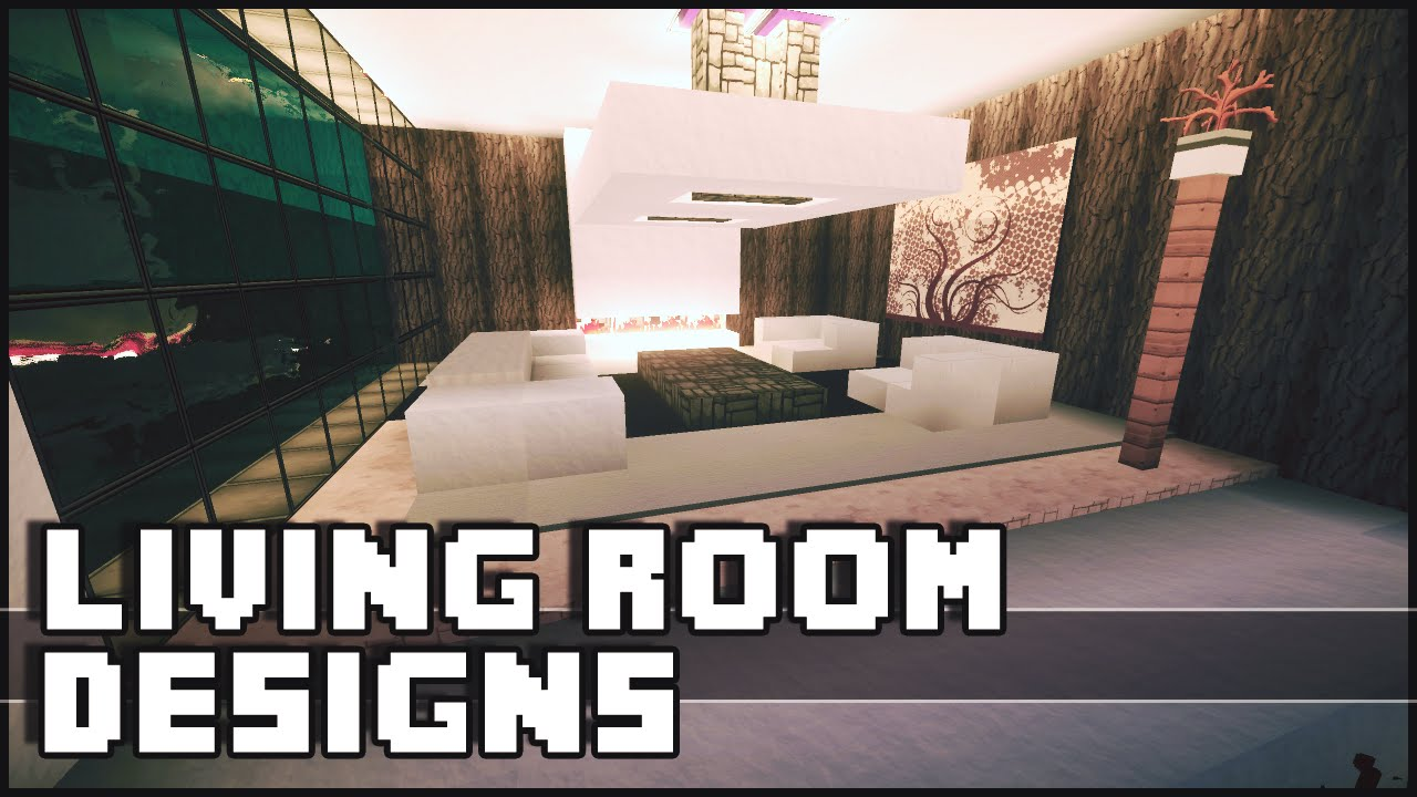 Minecraft living room designs ideas youtube for Minecraft interior design living room