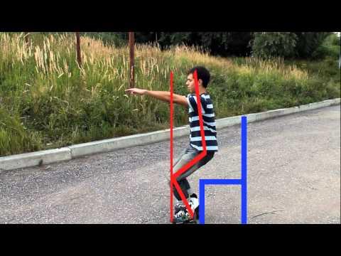Видео как кататься на роликах