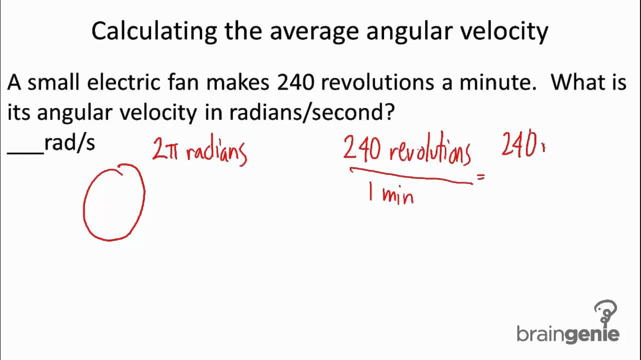 average angular velocity Angular Velocity Equation