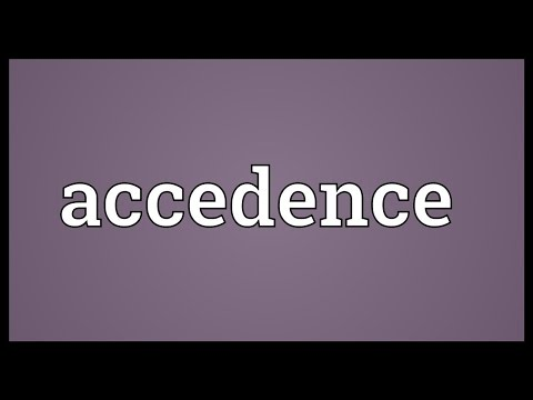 Header of Accedence