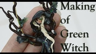 Creando con Nina - bambolina in fimo Green Witch