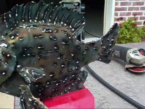 Metal Fish Sculpture (Step By Step How To Sculpt A Bream From Scrap Metal)