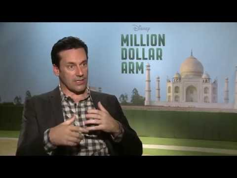 "Jon Hamm talks MLB, ""Million Dollar Arm"" on ESPN"