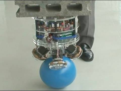 A Robot That Balances on a Ball