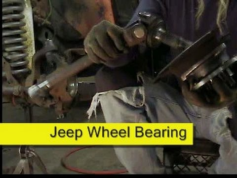 Jeep front wheel bearing hub assembly Dana 30 44 How to DIY