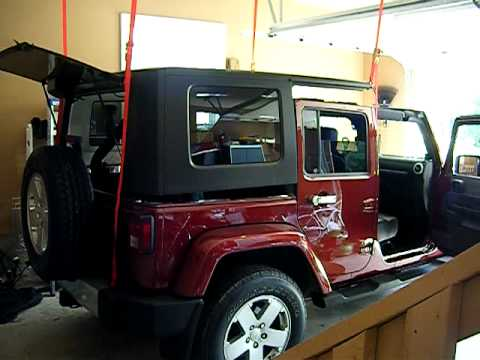 Electric Jeep Top Jeep Hard Top Removal
