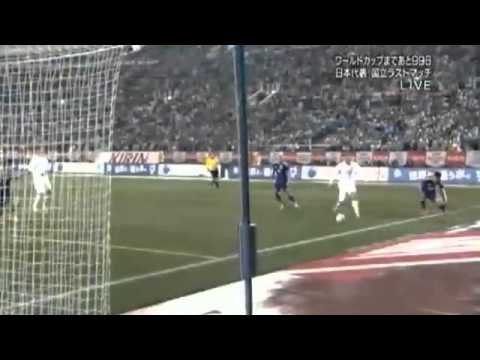 Chris Wood Amazing Goal ~ Japan vs New Zealand 4-1 ~ ( Friendly Match ) 05/03/2014
