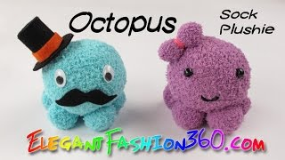 DIY Octopus Kawaii Sock Plushie/Stuffed Animal - How to
