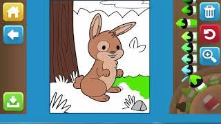 Game giáo dục - Game tô tranh mầu con thỏ cho bé