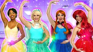 MAGIC BALLERINA DANCE. With Elsa, Belle, Anna, Jasmine, Cinderella and Maleficent. Totally TV Parody