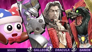 Super Smash Bros Ultimate - All Bosses on 9.9 Intensity Classic Mode