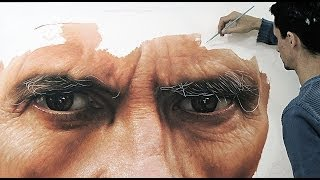 Hyper-realistic oil painting on canvas - fabiano Millani (Father)