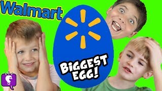 Giant WALMART Egg with New Toy Haul HobbyKidsTV