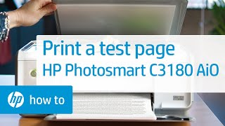 Printing a Test Page - HP Photosmart C3180 All-in-One Printer