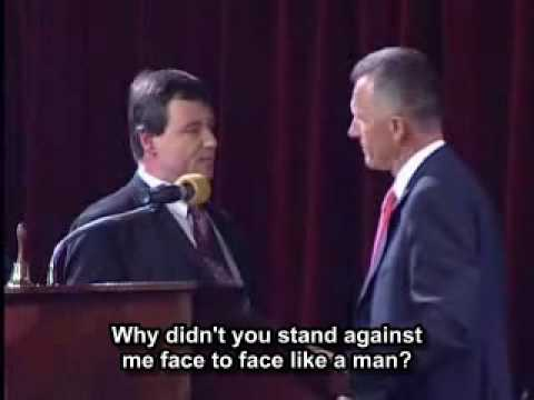 Politician fight (Rath vs. Macek) w/ English subs