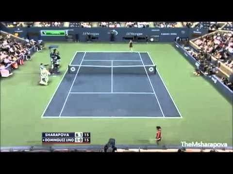 Maria Sharapova vs Lourdes Dominguez Lino Us Open 2012 Highlights