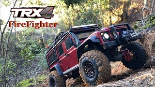 FireFighter trx4 Defender goes on the woods.