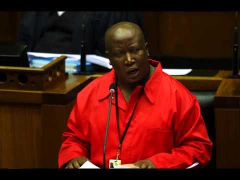Julius Malema sings in Parliament!