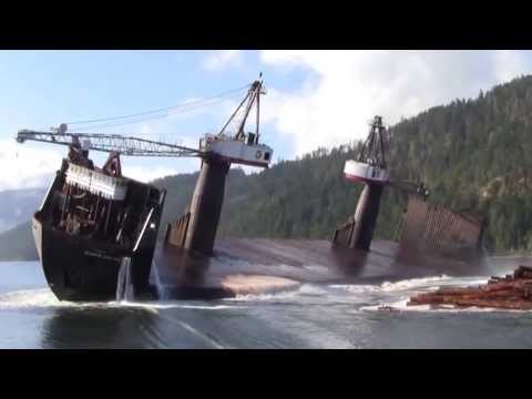 How to properly unload some wood-big ship unloading