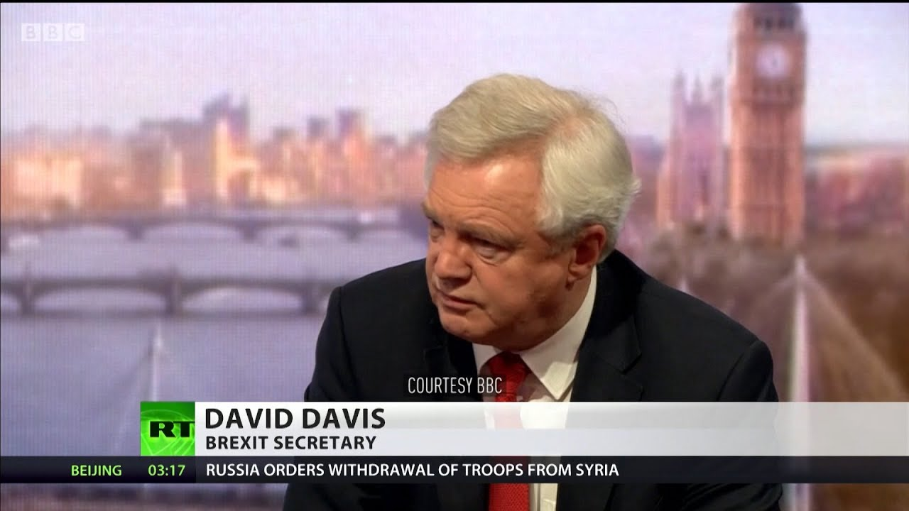 Davis backtracks over claim Brexit deal was 'statement of intent'
