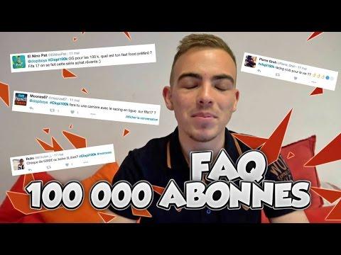 FAQ POUR LES 100 000 ABONNÉS : NOUVELLE CAMÉRA 4K !?