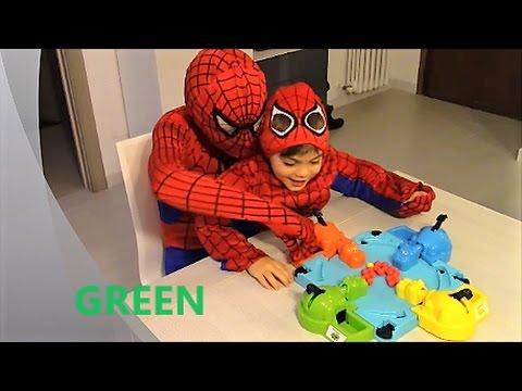 Inglese per bambini con Spiderman. Colori. Mangia Ippo Hasbro. English 4 kids
