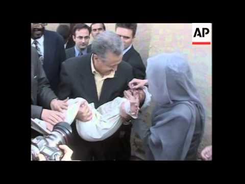 Brahimi gives polio vaccines, comments from UN Special Rep on human rights