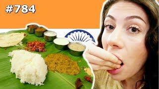 SOUTH INDIAN THALI ANDHRA STYLE BANGALORE  DAY 784 | TRAVEL VLOG IV