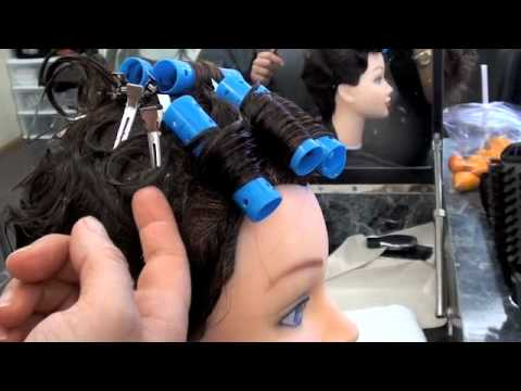 COSMETOLOGY; State Board Wet Set DEMO, 6 rollers, 15 pin curls on Fingerwaved ha