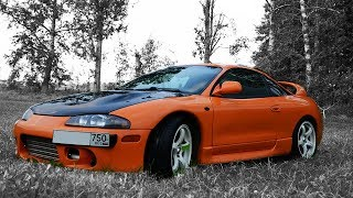 Mitsubishi Eclipse 2G GSX custom Evo3 O2 housing , downpipe and 2.5'' exhaust system