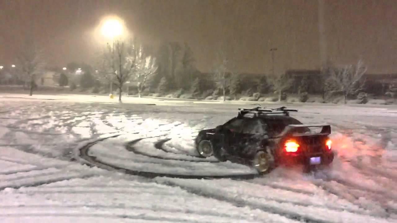 Subaru Launch Control >> Subaru Sti snow drifting - YouTube