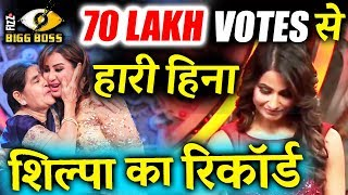 Shilpa Shinde WON By 7 MILLION VOTES Difference Over Hina Khan - Bigg Boss 11