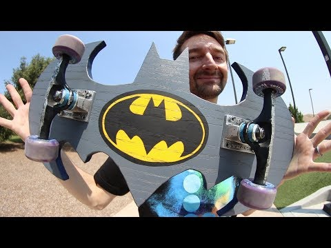 THE INCREDIBLE BAT BOARD!! | YOU MAKE IT WE SKATE IT EPISODE 216