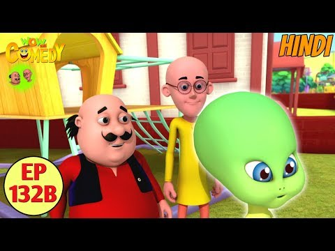Motu Patlu | Alien Baby | Cartoon in Hindi for Kids | Funny Cartoon Video thumbnail