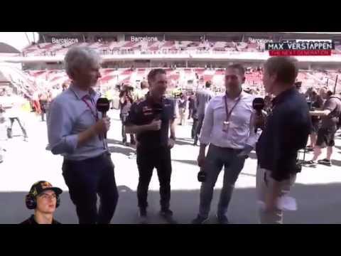 Post Race Interview Christian Horner & Jos Verstappen about Max Verstappen. #SpanishGP 2016 F1