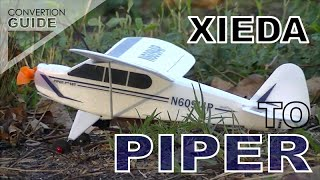 HELI XIEDA CONVERT TO PIPER CUB # NIGHT TEST FLIGHT
