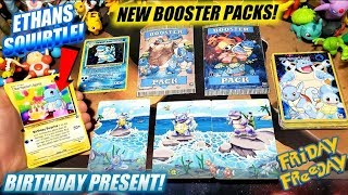 NEVER BEFORE SEEN ULTRA RARE POKEMON CARDS & BOOSTER PACKS! SOMEONE SENT ETHAN A BIRTHDAY SURPRISE!