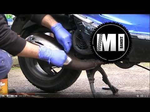 vespa Piaggio skipper diy scooter exhaust restore repair