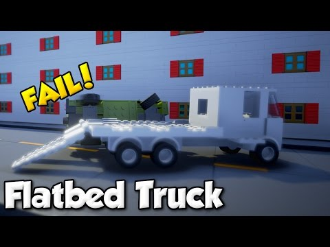 Flatbed Truck Fail! - Brick Rigs #1 - Gameplay & Building