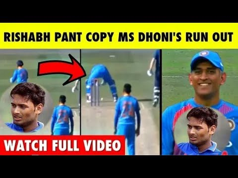 Rishab Pant Copy Ms Dhoni Run Out | India A Vs England Lions 2018 Highlights